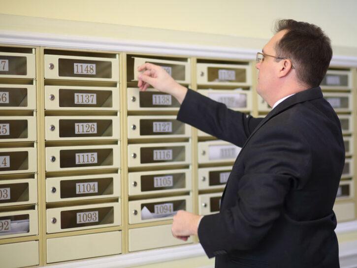 Portinaio custode condominio cassette delle lettere