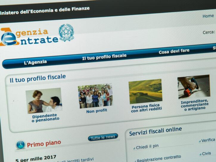 Agenzia delle entrate sito profilo utente