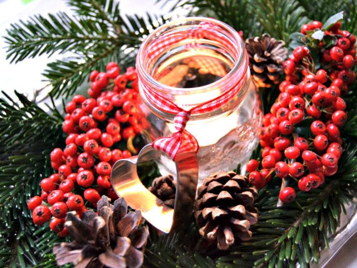 Centrotavola decorato con formina per biscotti