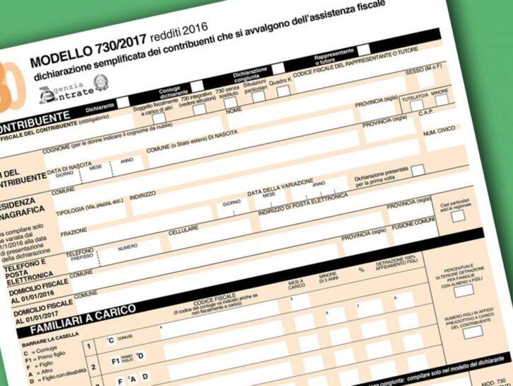 730 precompilato dichiarazione redditi 2016