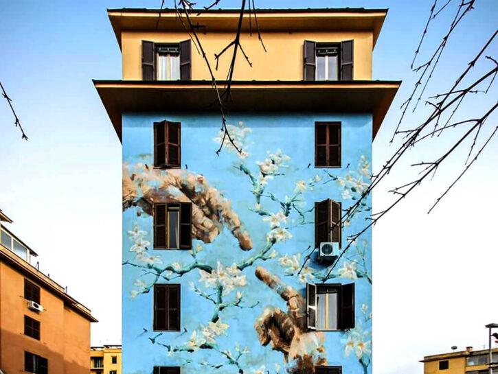 È ispirato al Giudizio universale di Michelangelo questo murale dello street artist Jerico nel qua