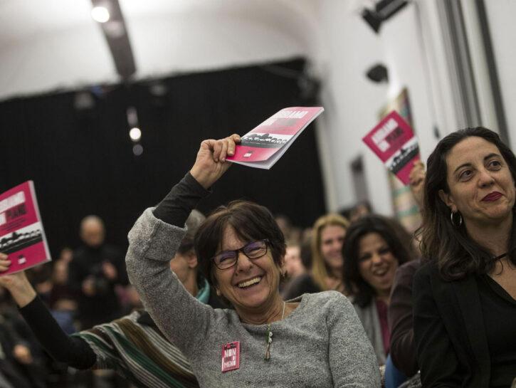 """Un momento della presentazione del """"Piano femminista contro la violenza maschile e di genere"""" da par"""