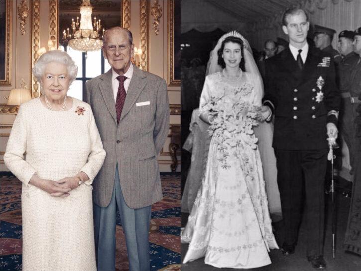 La foto ufficiale della Regina Elisabetta e del Principe Filippo rilasciata da Buckingham Palace per