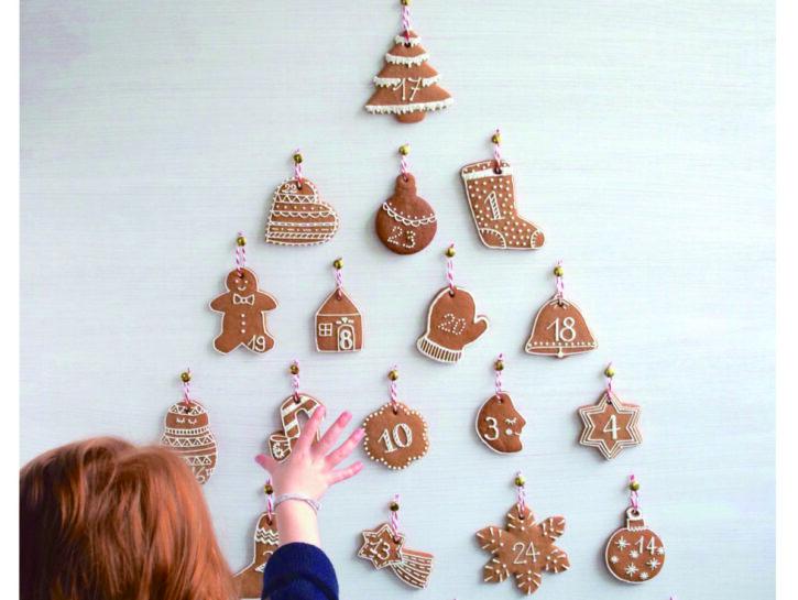 calendario avvento di biscotti