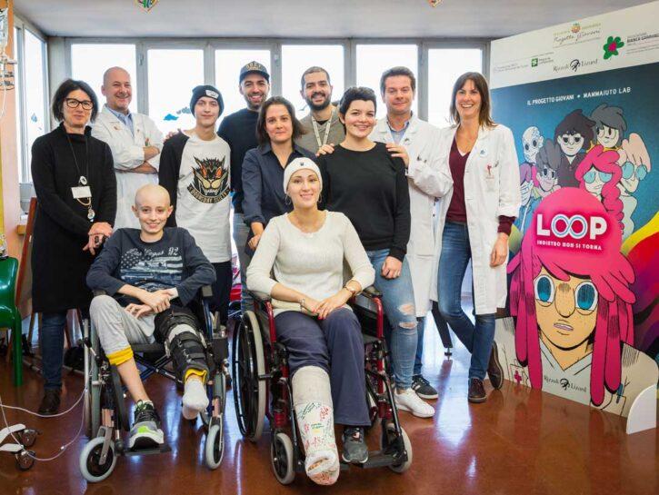Il gruppodella Pediatria oncologica dell'Istituto dei tumori di Milano che ha realizzato la grap