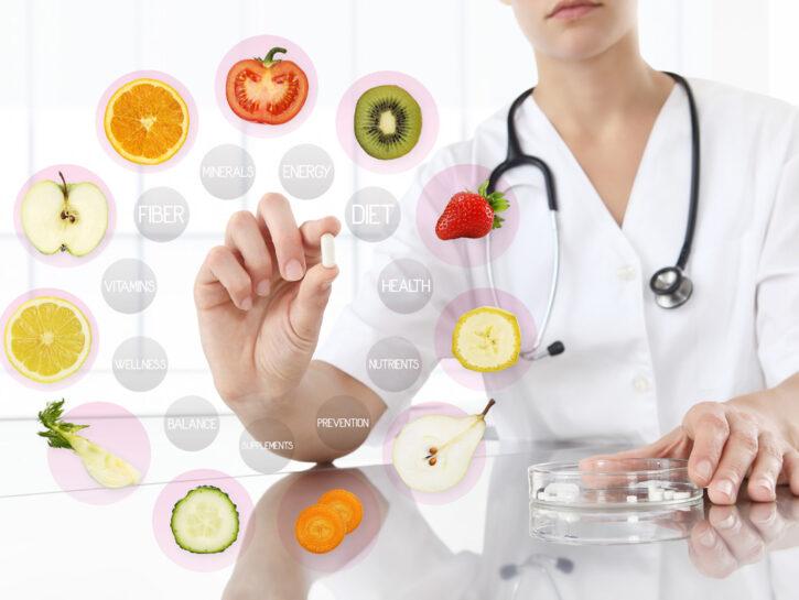 Medico alimentazione medicine cibo sano