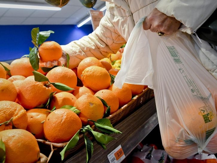 Sacchetti biodegradabili per frutta e verdura arance