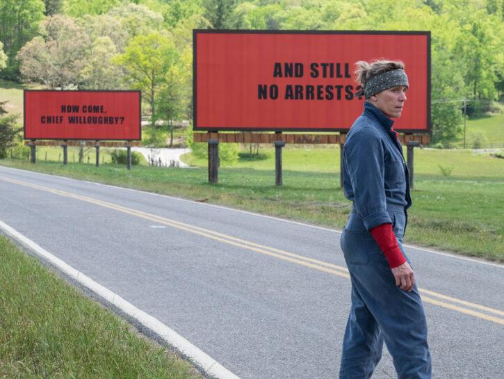 """Frances McDormand in """"3 manifesti a Ebbing, Missouri"""""""
