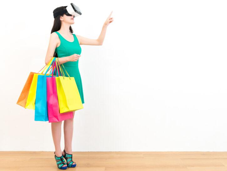 Shopping realta aumentata visore