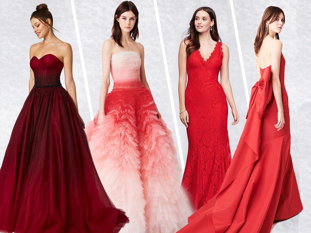 Super Abito da sposa rosso: i modelli di tendenza nel colore della DM86