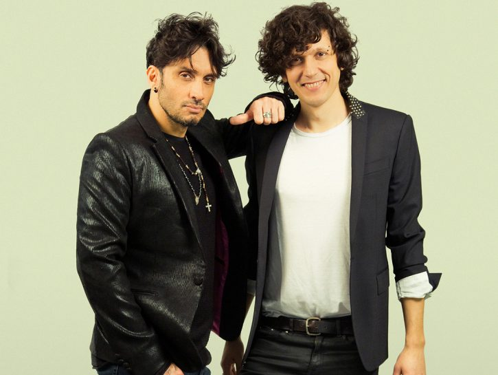 Fabrizio Moro ed Ermal Meta che, come vincitori di Sanremo, rappresenteranno l'Italia