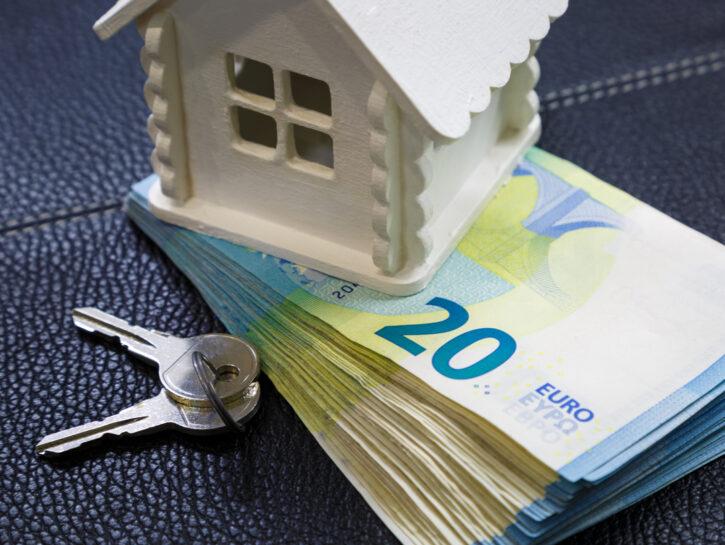 Euro soldi casa chiave