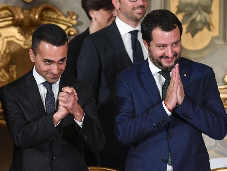 I due vice premier Luigi Di Maio, Matteo Salvini, giuramento, Governo