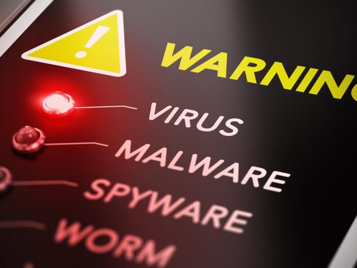 Virus-malware-computer-allarme