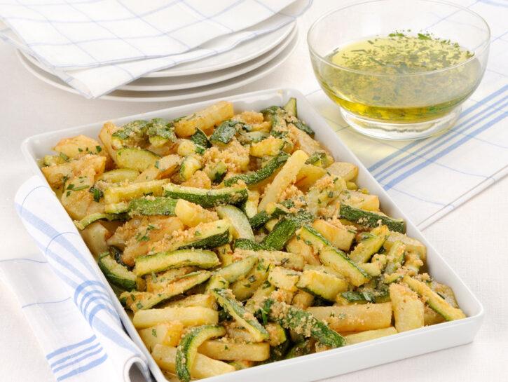 Fritto di zucchine e patate al forno