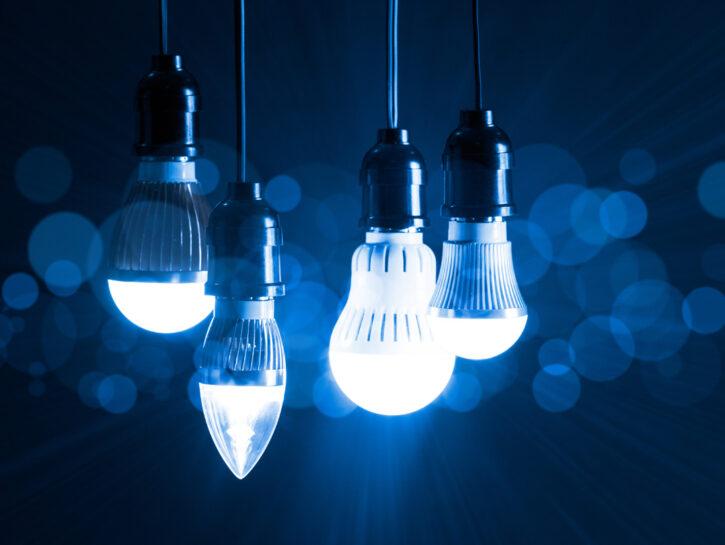 Lampadine varie luce blu