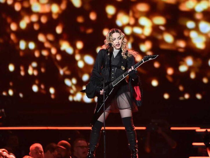 Madonna ad Atlanta (Georgia) nel 2016 durante il Rebel Heart Tour.