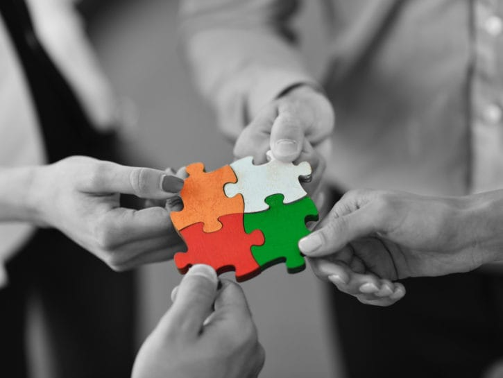 Solidarieta gruppo persone puzzle
