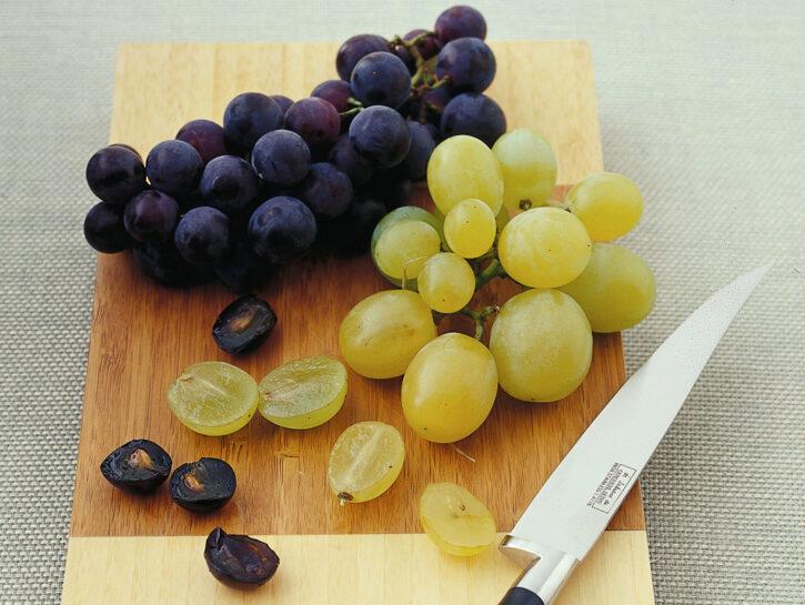 Uva bianca e uva nera
