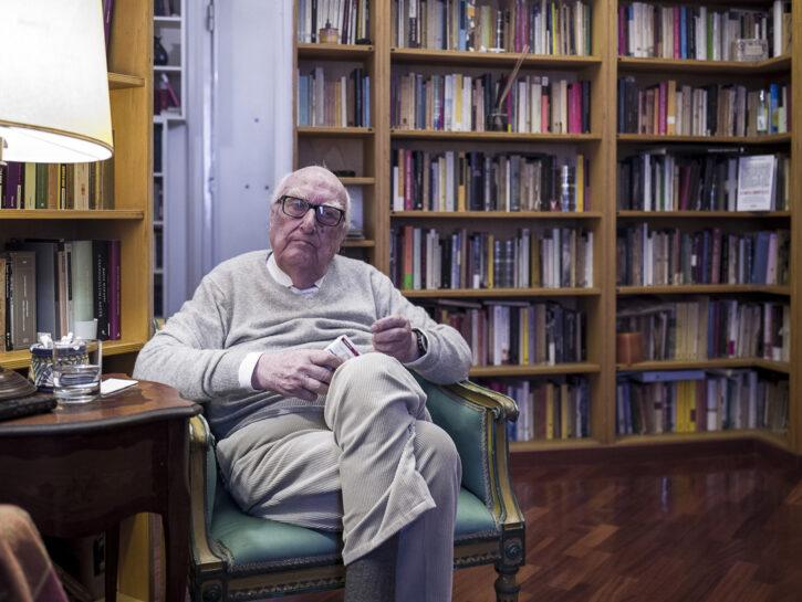 Lo scrittore Andrea Camilleri