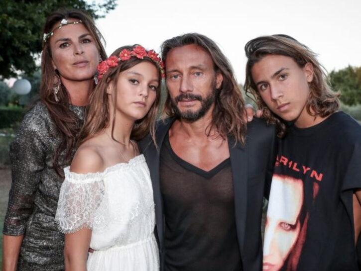 Bob Sinclar insieme alla (ex) moglie Ingrid Aleman e ai figli Raphaël, 18 anni, e Paloma, nata nel