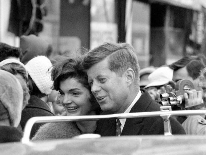 La coppia durante la vittoriosa campagna per le presidenziali del 1960