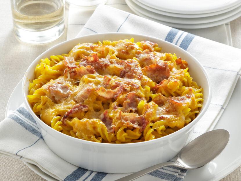 Pasta con zucca e pancetta (anche al forno)