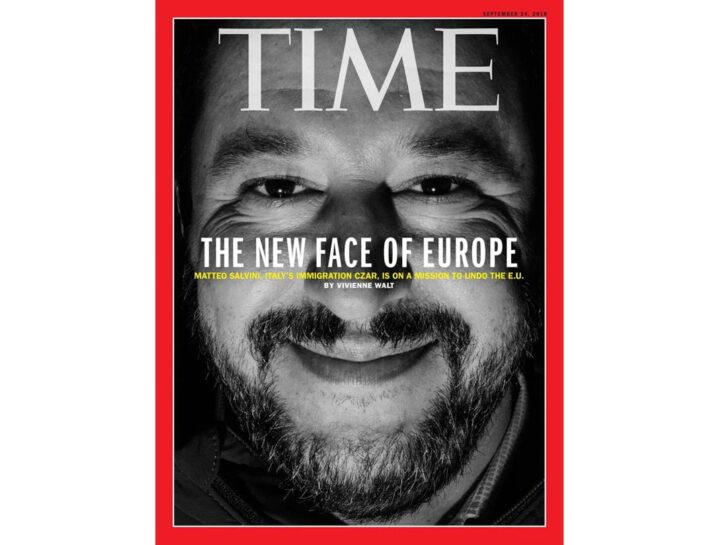 Matteo Salvini sulla copertina di Time Magazine