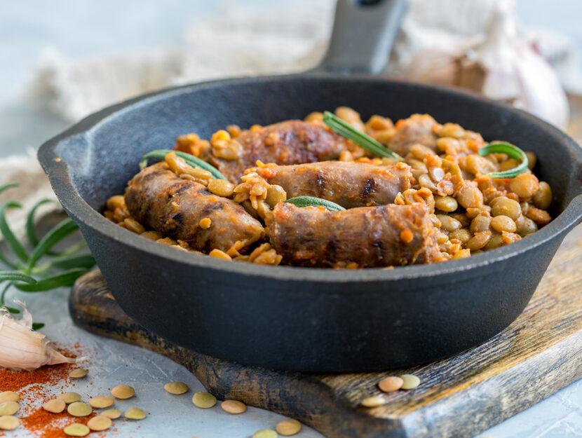 Stufato di lenticchie e salsiccia