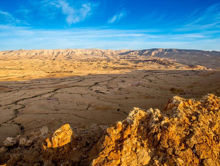 """HaMakhtesh HaGadol, il """"grande cratere"""" nel deserto del Negev"""