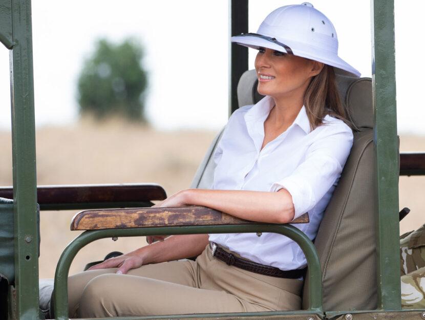 Melania Trump in visita al Parco Nazionale di Nairobi (Kenya)