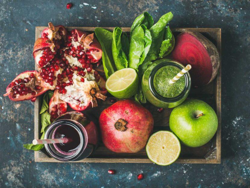 succhi di frutta e verdure benefici