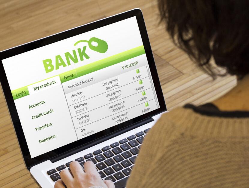 Donna conto banca estero computer