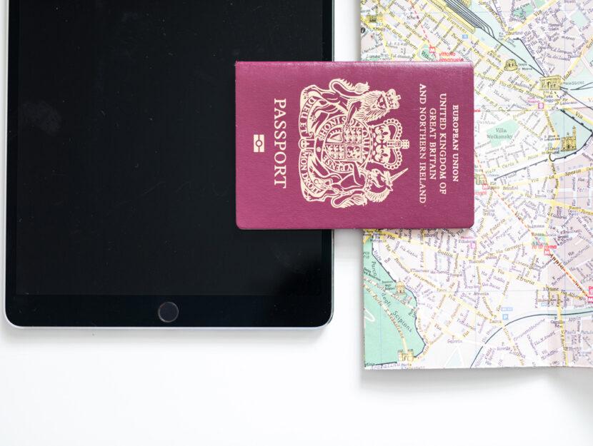 Passaporto mappa tablet