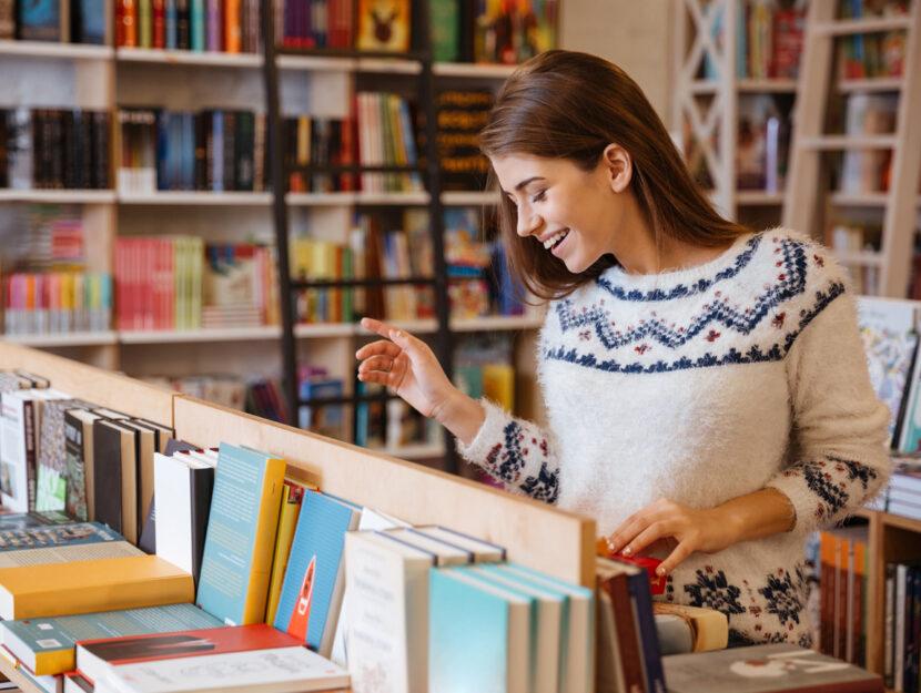 Ragazza libri libreria