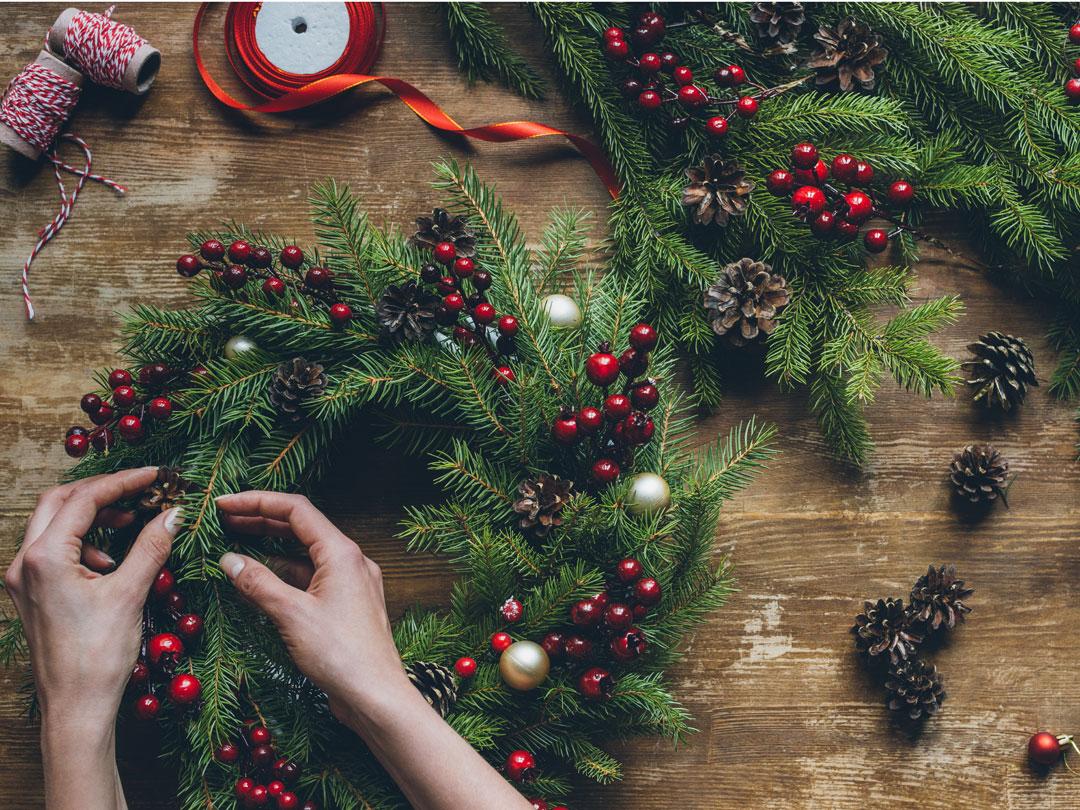 Addobbi Natalizi Con Frutta ghirlande natalizie fai da te