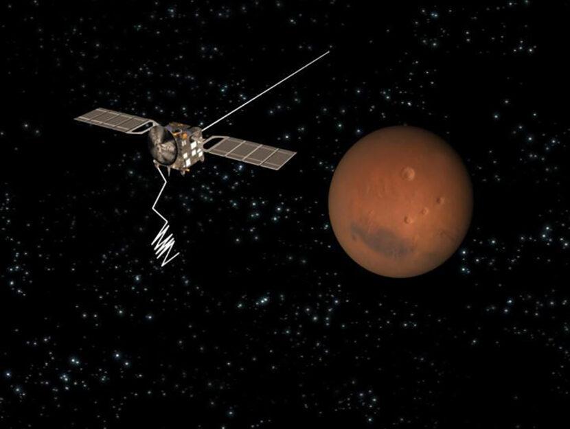 La sonda MARSIS vicino a Marte nel luglio 2018