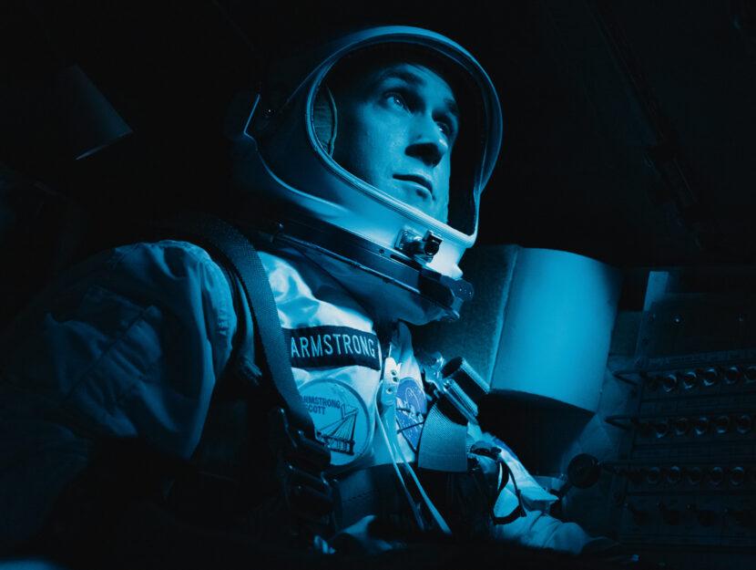 """Una scena del film """"First man - Il primo uomo"""",con Ryan Gosling nei panni dell'astronauta Neil A"""