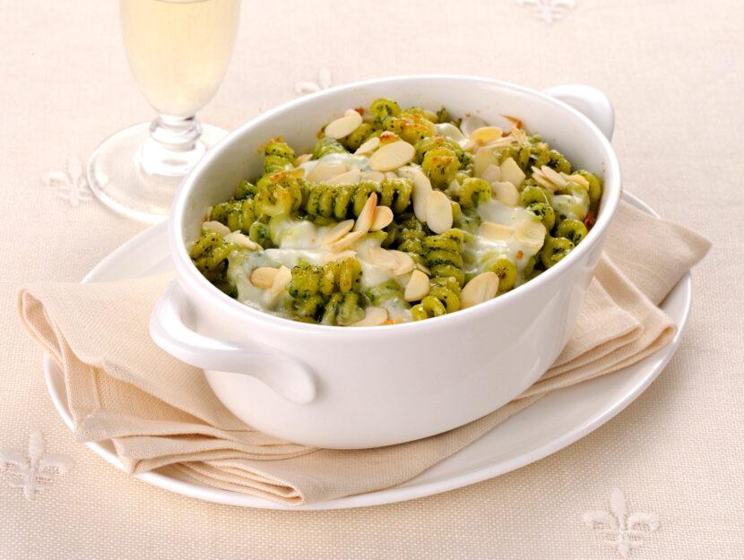 Pasta al forno al pesto di spinaci