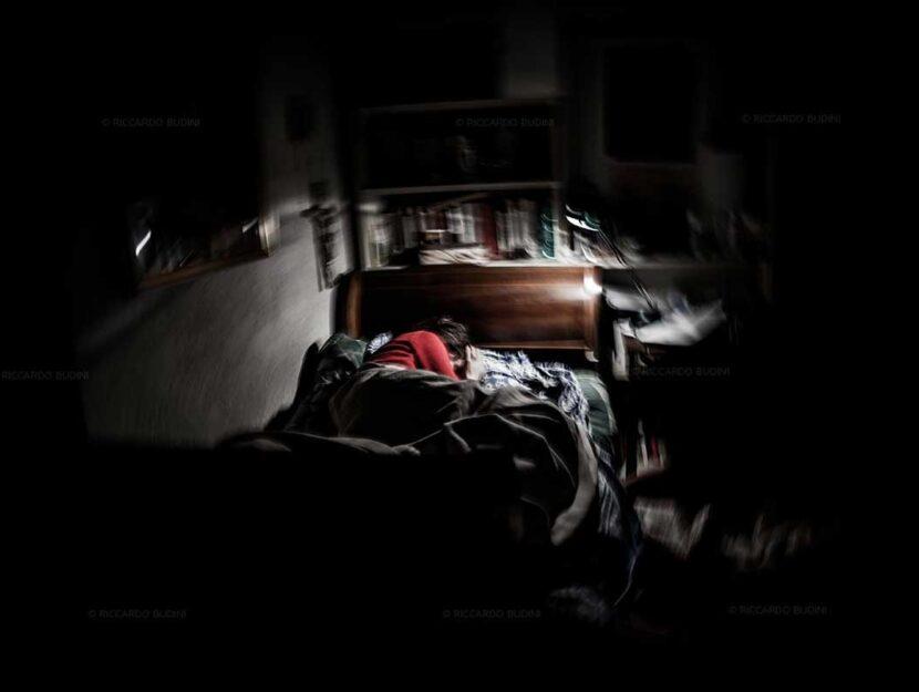 Questa foto ritrae Maria Grazia Budini, sorella del fotografo autore dello scatto, Riccardo. Maria G