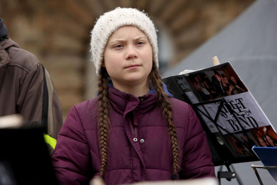Greta Thunberg a una manifestazione ad Amburgo, 1 marzo 2019. FotoAdam Berry/Getty Images