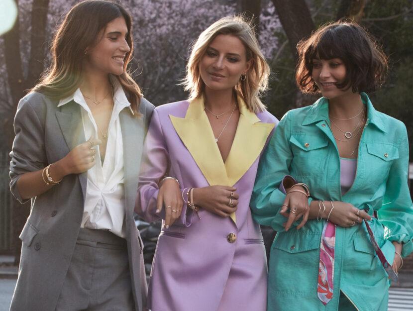 Le influencer Veronica Ferraro, Belen Hostalet e Taylor LaShae ('Make a Fashion Week'by Pandora)