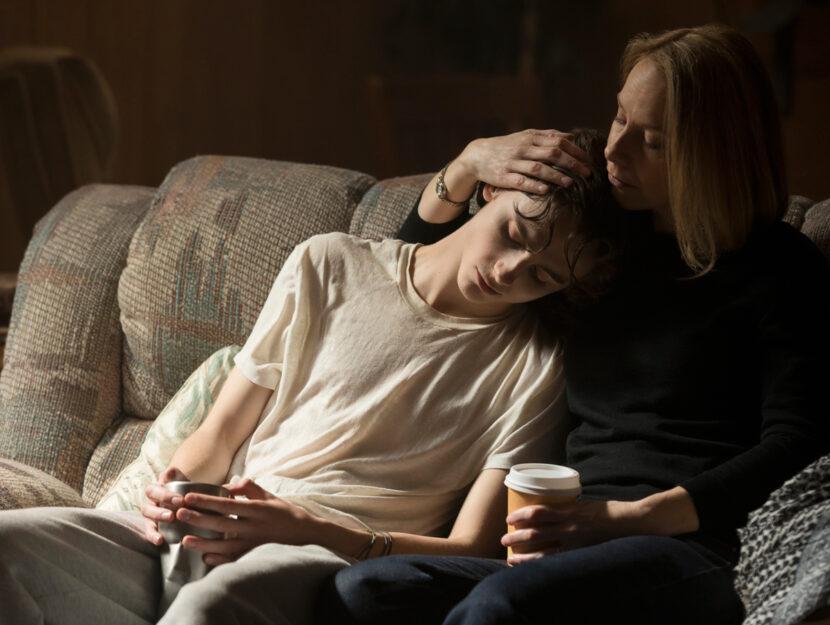 """Timothée Chalamet in una scena di""""Beautiful boy"""""""