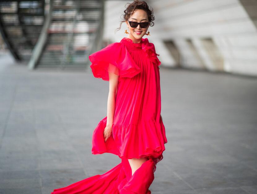 abito rosso da sera