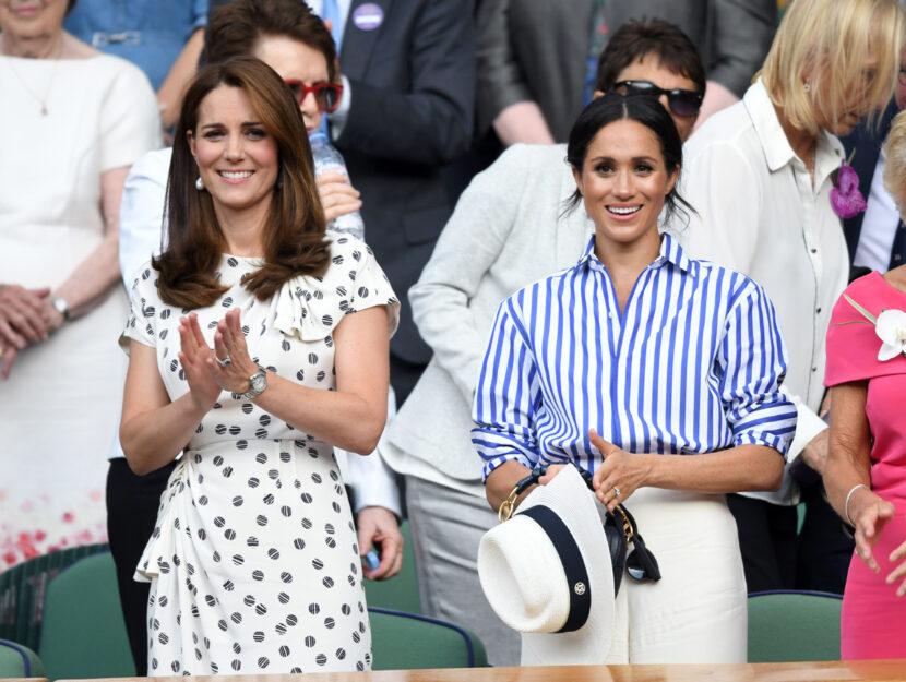 Kate e Meghan a Wimbledon nel 2018. Foto diKarwai Tang/WireImage