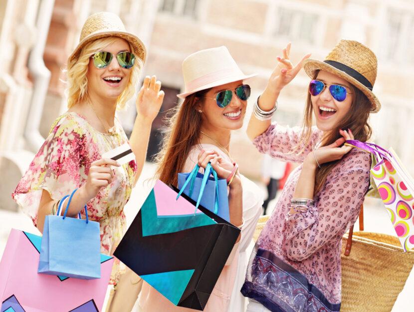 Ragazze borse shopping