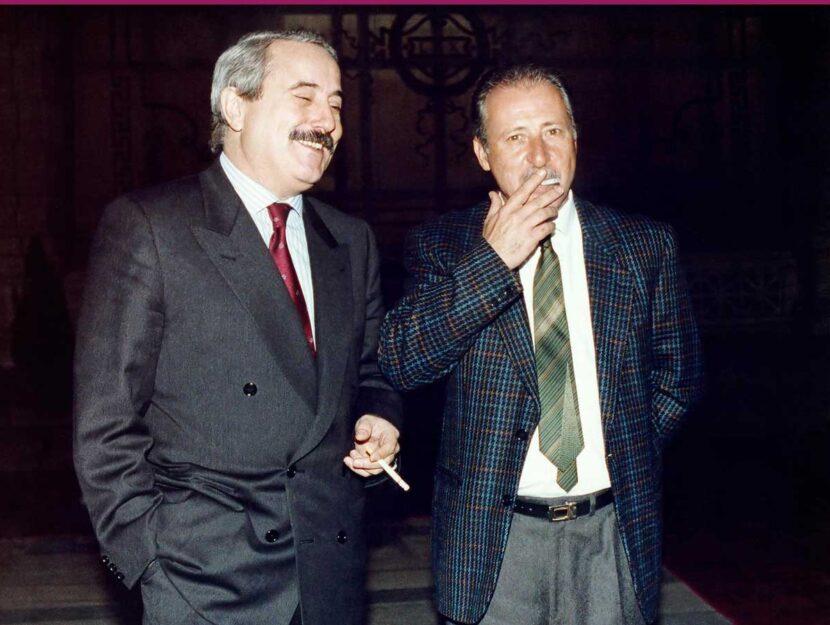 I giudici Giovanni Falcone, ucciso il 23 maggio 1992 a Capaci e Paolo Borsellino, ucciso 57 giorni d