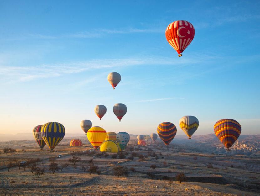 volare sulla cappadocia in mongolfiera