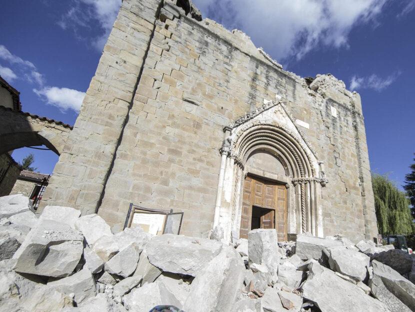 chiesa di Sant Agostino Amatrice terremoto