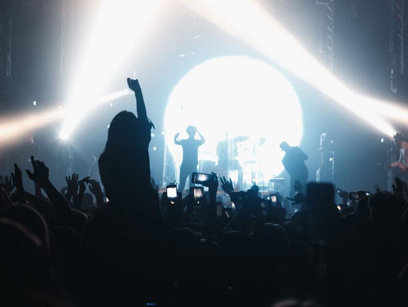 Concerto folla ragazza
